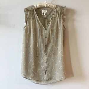 Matilda Jane Butterfly sheer top size Large